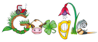 "Doodle 4 Google 2016 Winner - ""Ireland is a land so green"" by Mia Buckley, Summercove, Cork"